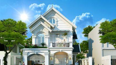 Mẫu thiết kế biệt thự 2 tầng tân cổ điển đẹp nhất