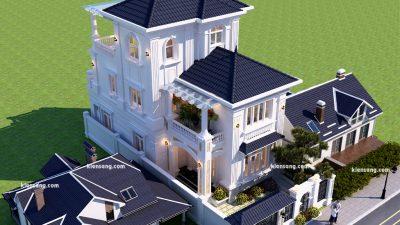 Chiêm ngưỡng biệt thự 2 tầng 200m2 kiểu Pháp siêu đẹp