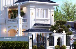 Mẫu thiết kế biệt thự 2 tầng kiểu Pháp tân cổ điển