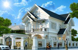 Biệt thự 2 tầng mái Thái đẹp 2018