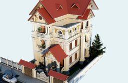 Chiêm ngưỡng mẫu thiết kế biệt thự 3 tầng 1 mặt tiền đẹp