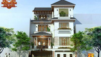 Thiết kế biệt thự tân cổ điển 4 tầng tại Hà Nội
