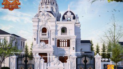 Thiết kế biệt thự tân cổ điển 3 tầng tại Hà Nội