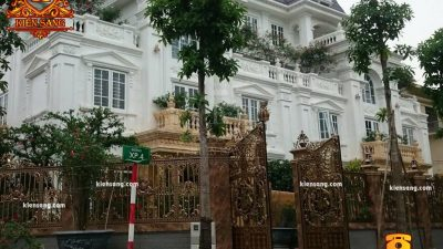 Thiết kế biệt thự cổ điển kiểu Pháp tại Hà Nội